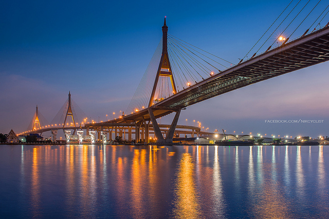 Bhumibol Bridge on Rama 3 sight