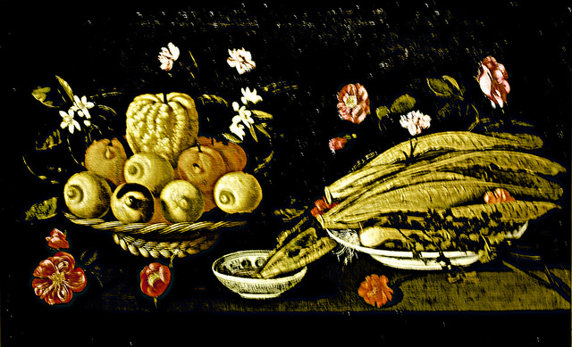 Still Life with fruits, vegetables and flowers (c.1678) - Josepha de Óbidos (1630 - 1684)