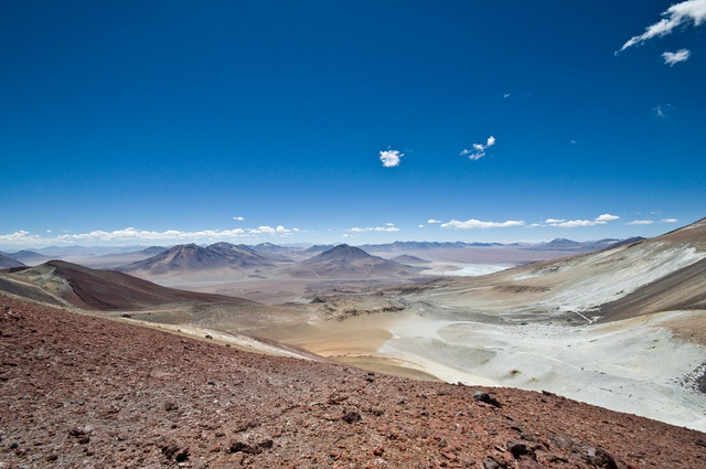 Volcan Saciel - View of Bolivia
