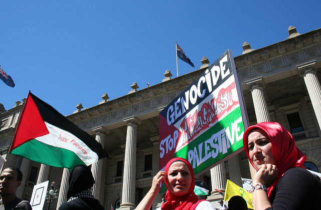 Palestine protest Outside Victorian Parliament House