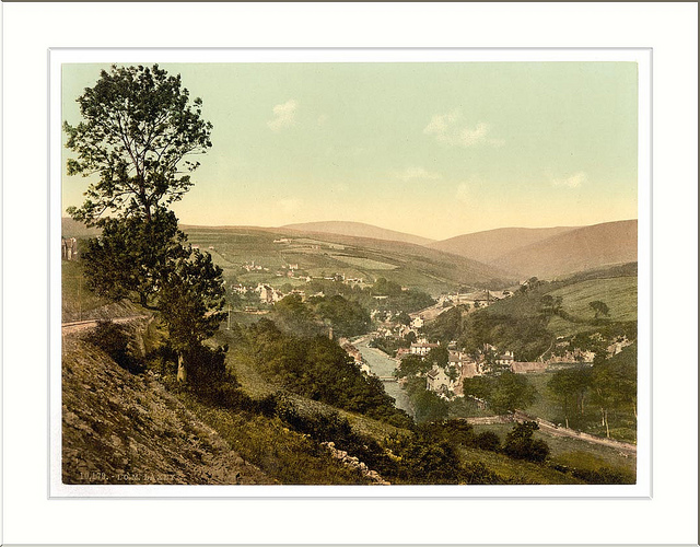 Laxey general view Isle of Man England