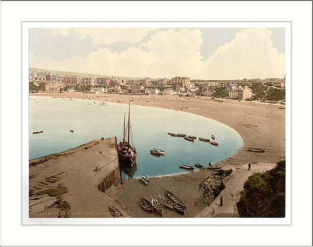Port Erin general view Isle of Man England
