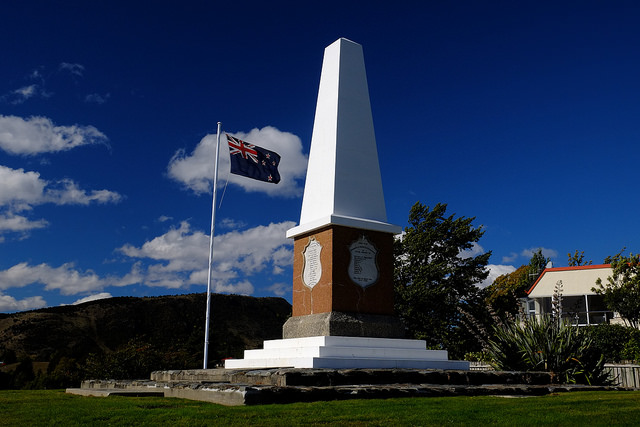 "Wanaka War Memorial, Today ""We will Remember Them"""