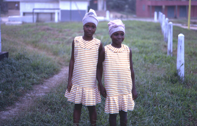 Sisters, Pendembu, Sierra Leone (West Africa), 1967 --- another view