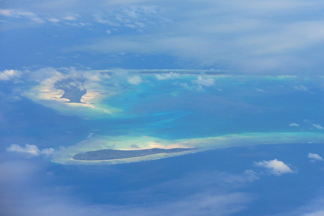 Aerial view, Kiribati, 2011. Photo: Erin Magee / DFAT
