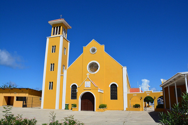 Catholic church in Rincon (Bonaire 2014)