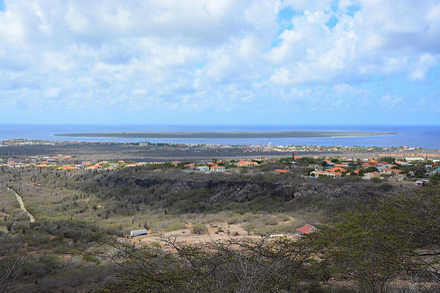 View over Kralendijk from North-Salina (Bonaire 2014)