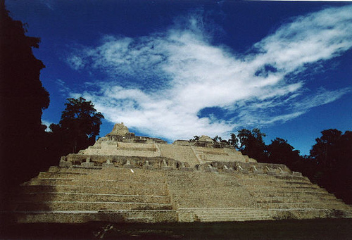 Belize - A temple at Caracol