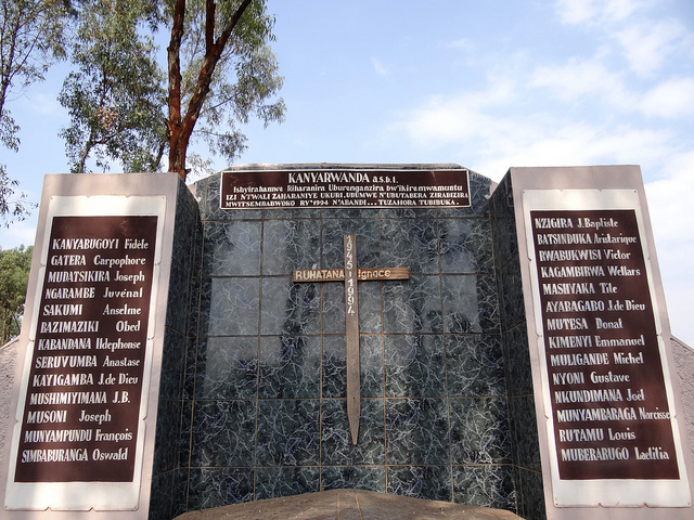 Monument over Mass Grave - Nyanza Genocide Memorial Site - Kicukiro District - Kigali - Rwanda