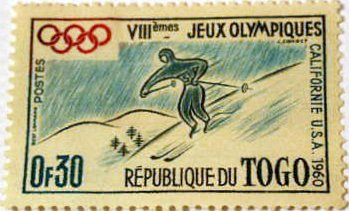 Togo Olympic Stamp, California, 1960