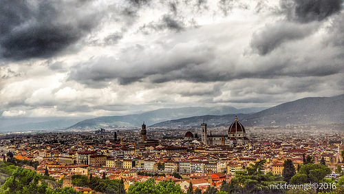 Rain Clouds Over Florence